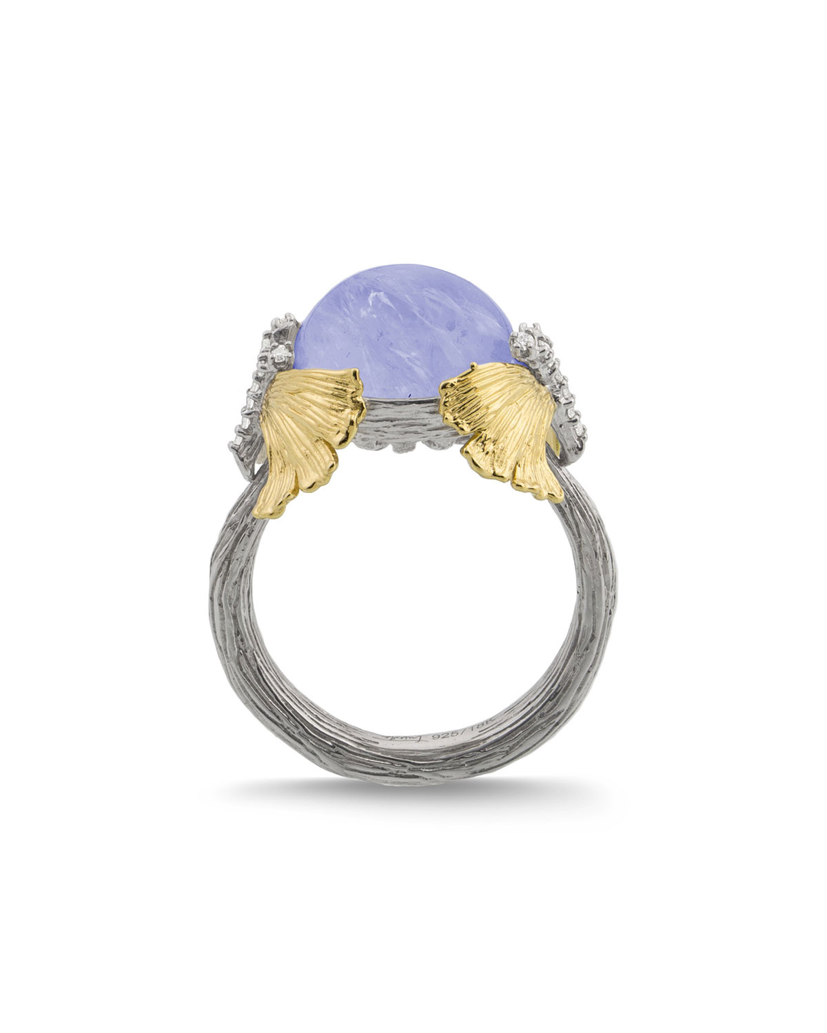 Butterfly Ginkgo Dome Ring w/ Chalcedony
