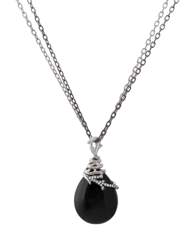 Michael Aram Enchanted Forest Black Collar Necklace w/ Diamonds u8Ztl1dDPK
