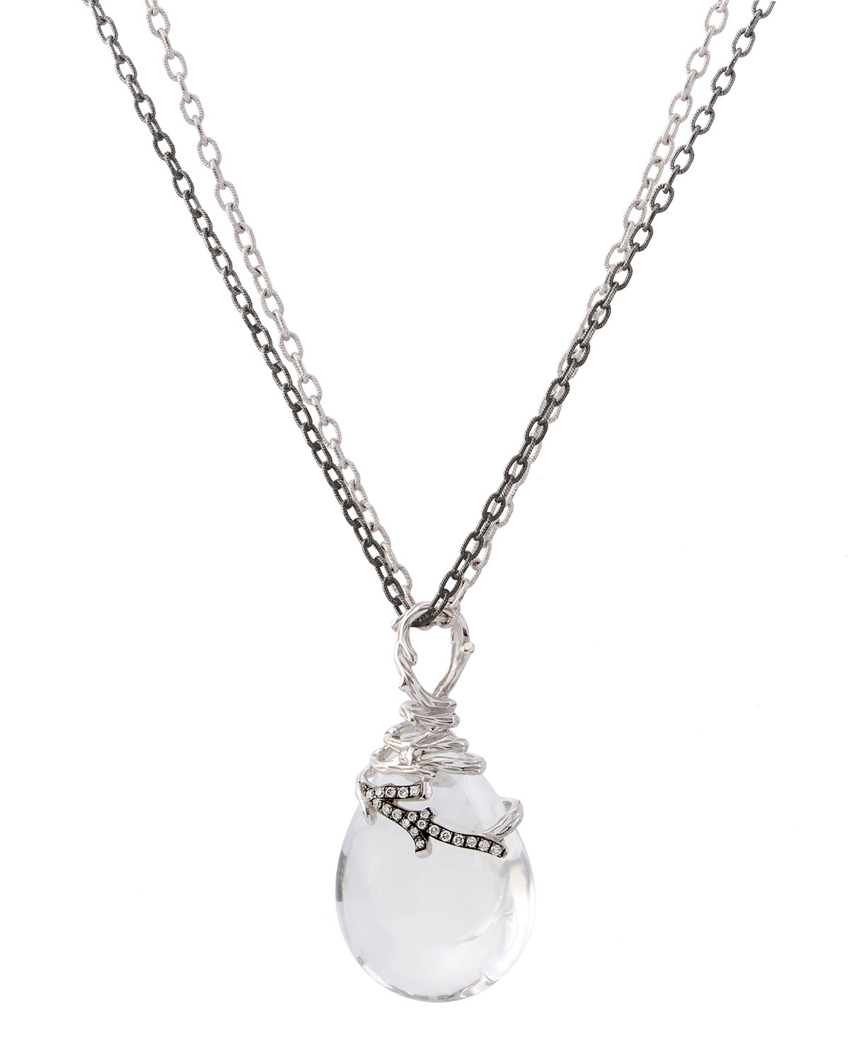 Enchanted Forest Wrap Necklace w/ Crystal & Diamonds
