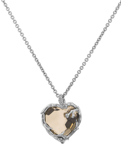Enchanted Forest Twig Heart Necklace w/ 18k Gold
