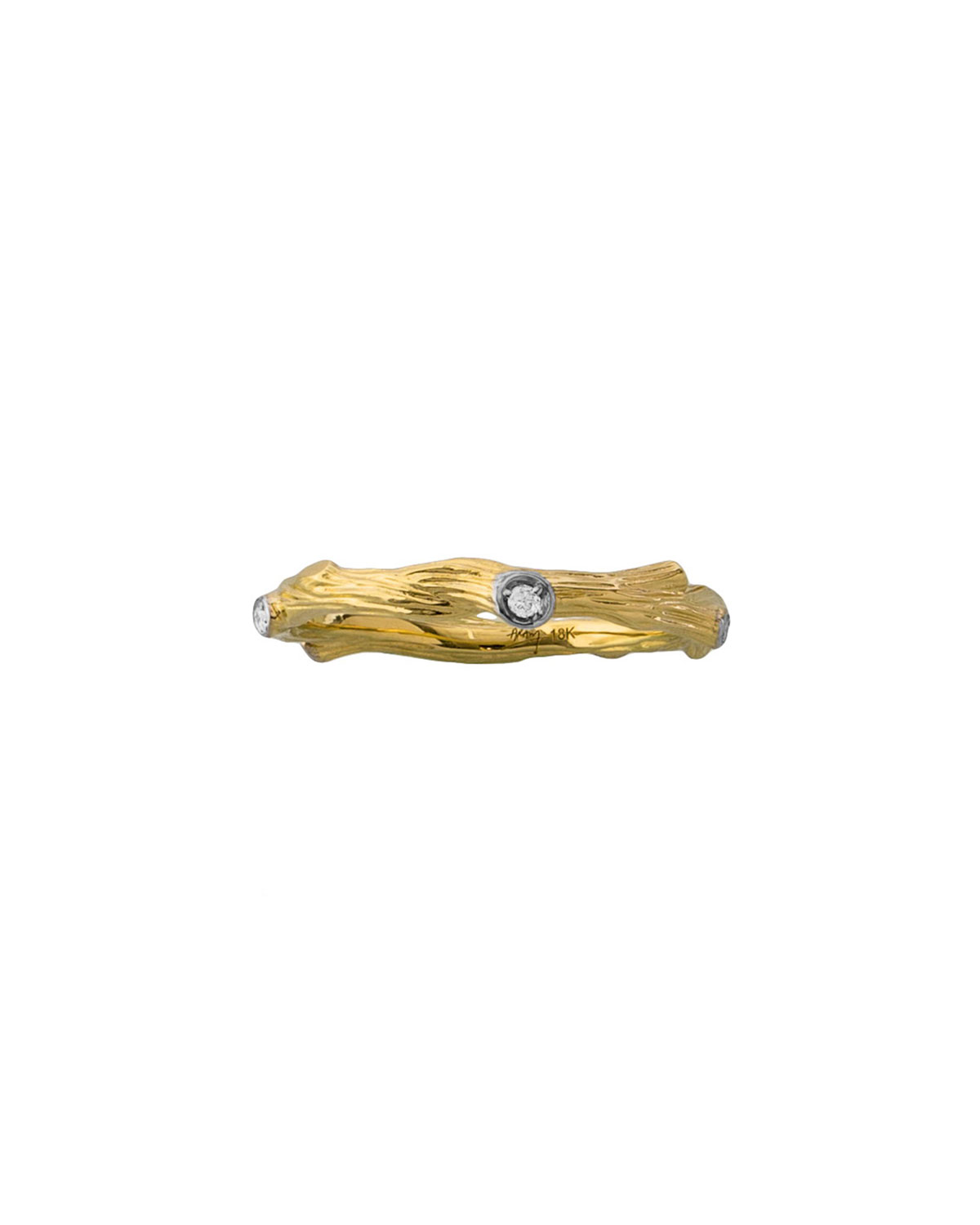 18k Enchanted Forest Band Ring w/ Diamonds