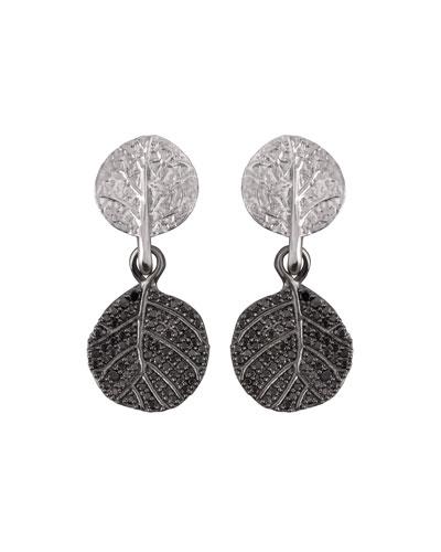 Botanical Leaf Diamond Drop Earrings