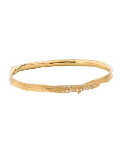 18k Palm Diamond Bracelet
