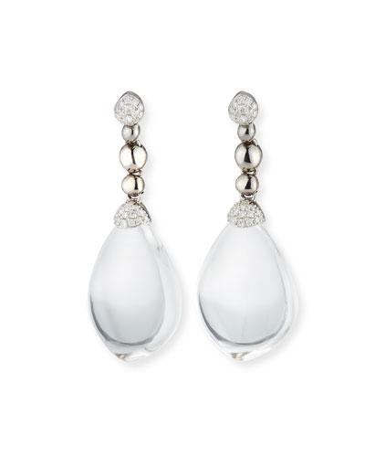 Molten Drop Earrings w/ Crystals & Diamonds