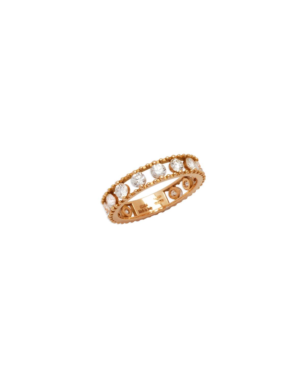 STAURINO FRATELLI Allegra 18K Rose Gold Diamond Openwork Band Ring (1.34Ct.), Size 6.5