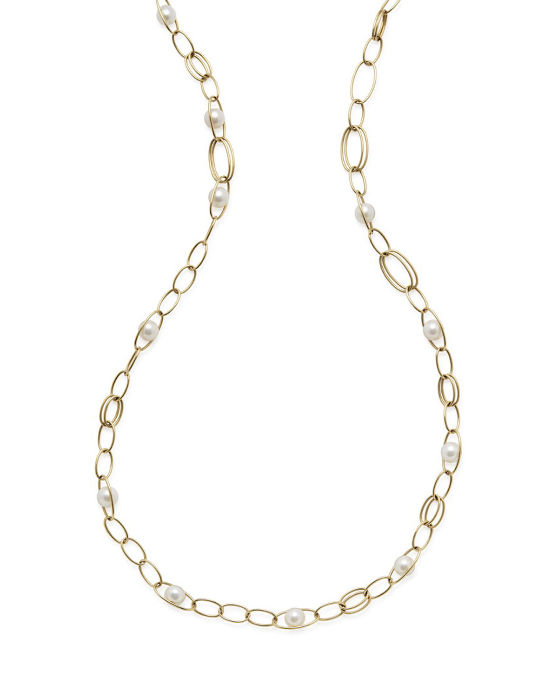 Ippolita 18k Gold Nova 5-Strand Collar Necklace w/ Pearls j1g4H