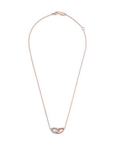 18k Cherish Bond Pendant Necklace w/ Diamonds