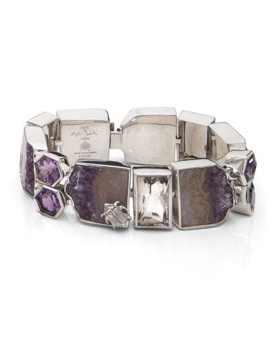 One-of-a-Kind Amethyst & Smoky Quartz Bracelet