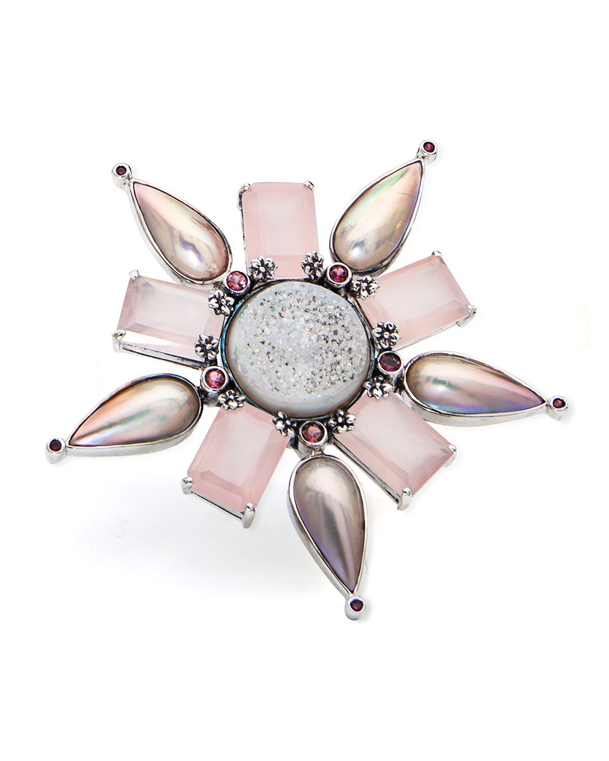 STEPHEN DWECK One-Of-A-Kind Multi-Stone Flower Pendant