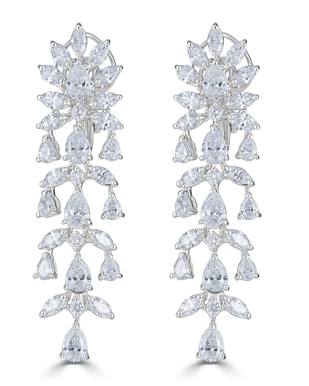 ZYDO 18K LUMINAL DIAMOND CASCADE EARRINGS
