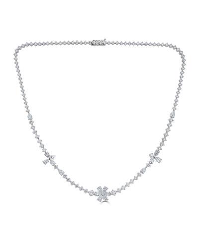 18k Luminal Mixed Diamond Necklace