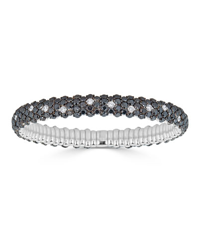18k Stretch Two-Tone Diamond Bracelet