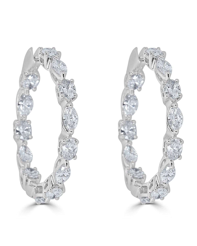 ZYDO 18K LUMINAL DIAMOND HOOP EARRINGS