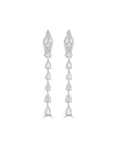 18k Luminal Diamond Dangle Earrings