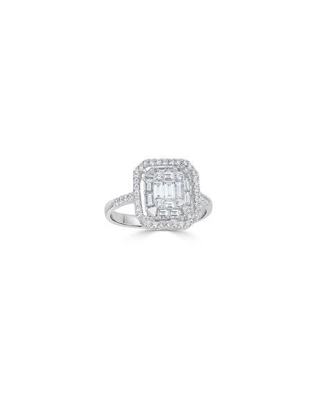ZYDO 18k Mosaic Mixed-Cut Diamond Ring, 1.0tcw, Size 7