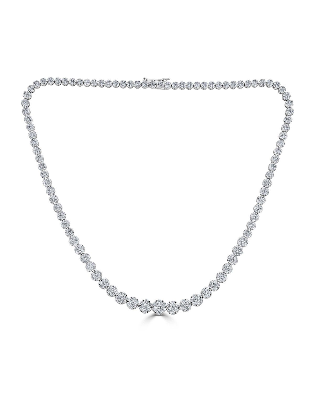 ZYDO 18K MOSAIC GRADUATING DIAMOND NECKLACE