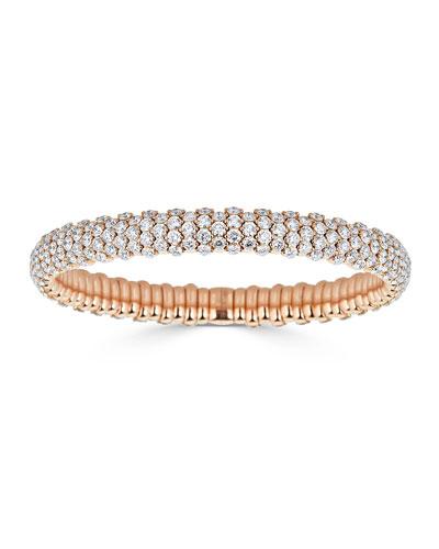 Bessa 18K White & Rose Gold Bracelet with Diamond Circles GVXjp