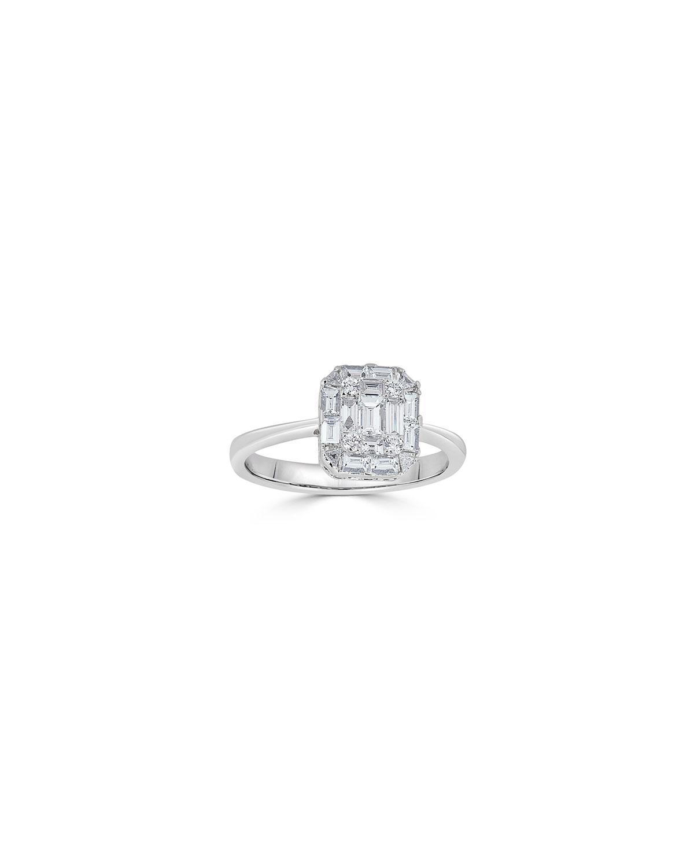 ZYDO 18K MOSAIC DIAMOND OCTAGON RING