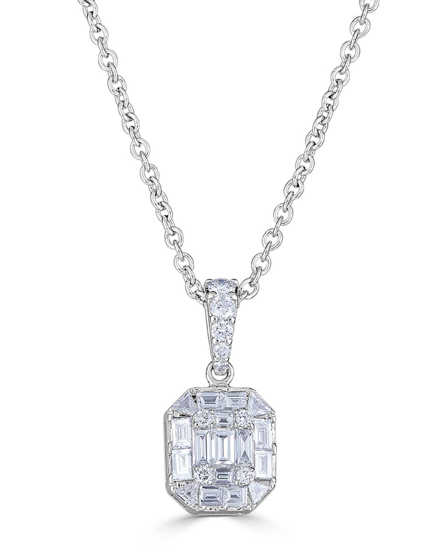 ZYDO 18K WHITE GOLD DIAMOND PENDANT NECKLACE