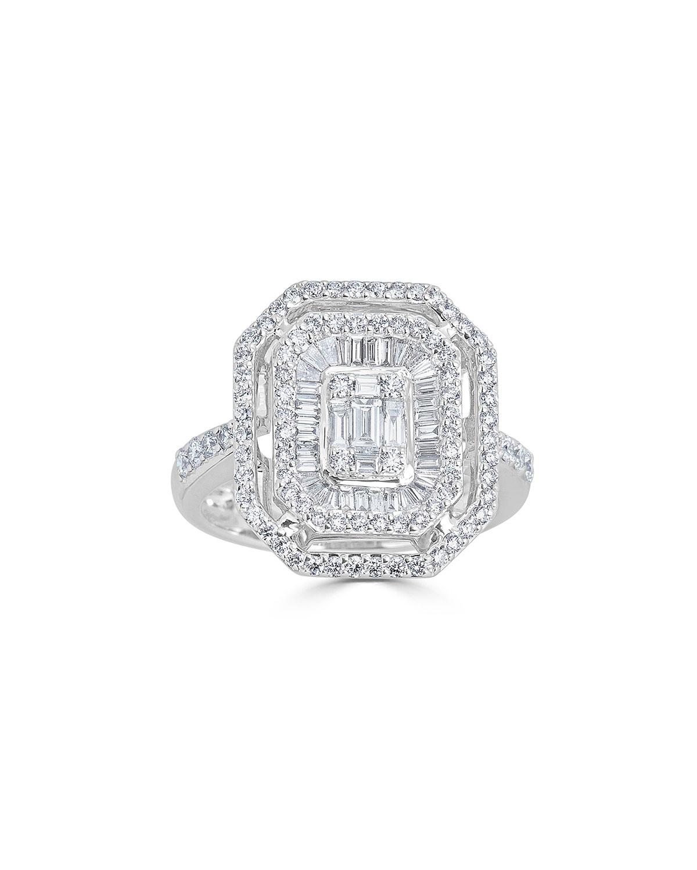 ZYDO 18K MOSAIC MIXED-CUT DIAMOND RING