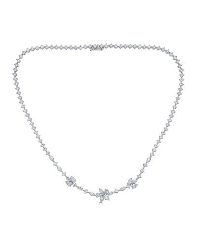 18k Luminal Diamond Flower Necklace