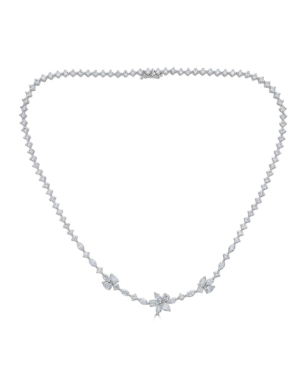 ZYDO 18K LUMINAL DIAMOND FLOWER NECKLACE