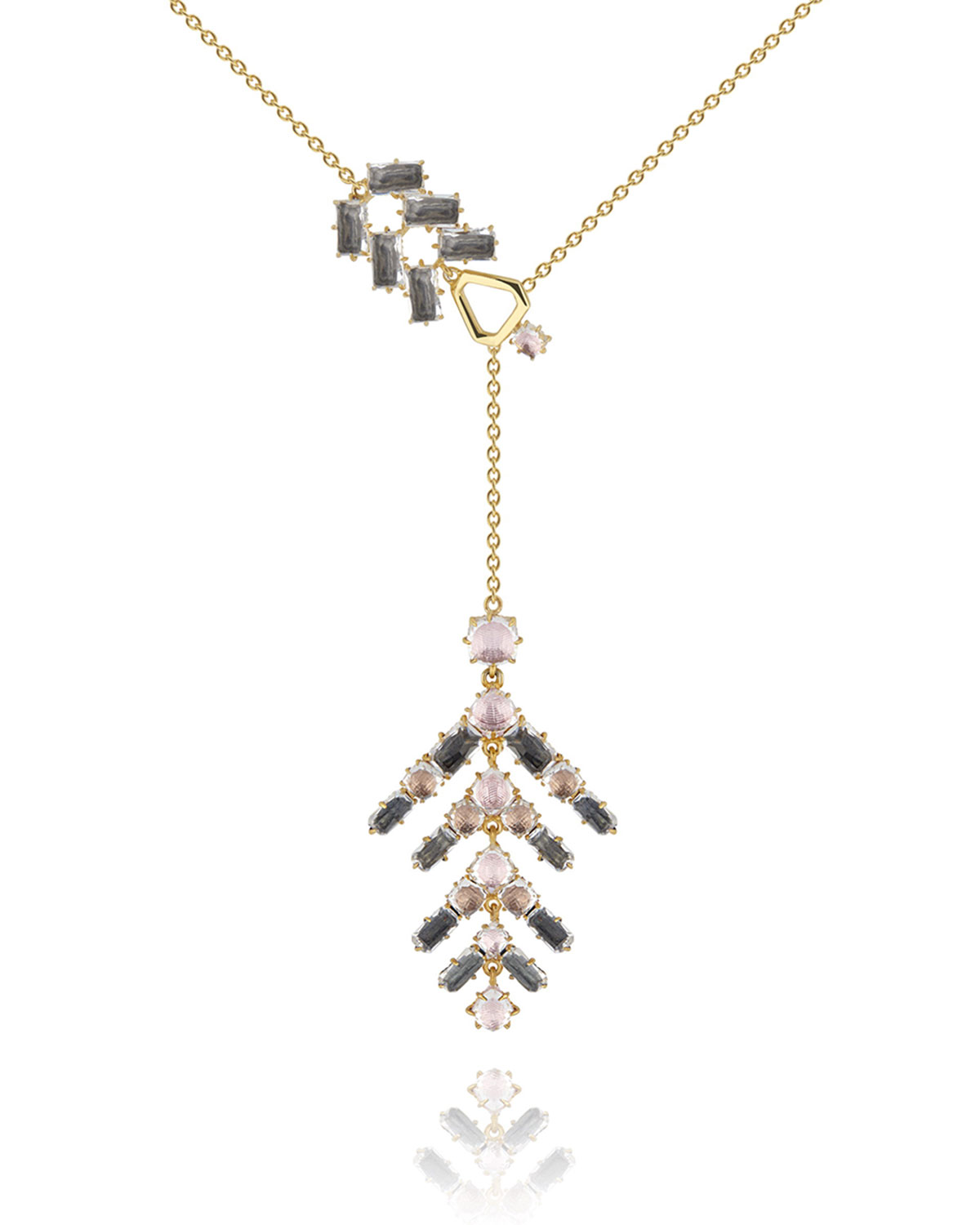 LARKSPUR & HAWK CATERINA BRANCH LARIAT NECKLACE, FAWN