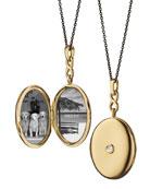 Monica Rich Kosann 18K Gold Locket Necklace with