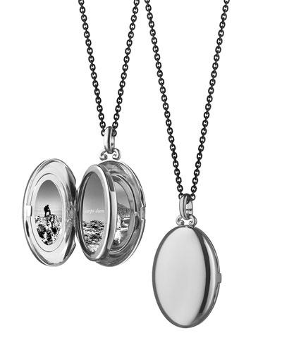 Silver Midi 4-Image Locket Necklace, 32