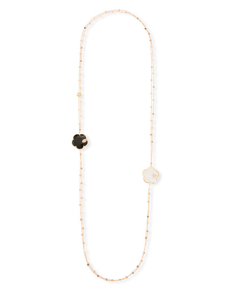 Pasquale Bruni Ton Joli 18k Black & White Necklace w/ Diamonds, 40""