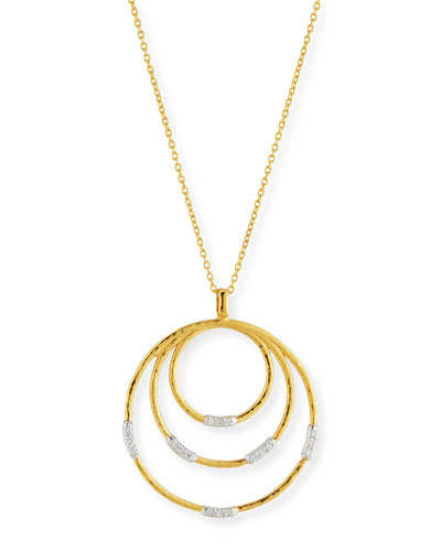 Gold round pendant necklace neiman marcus quick look gurhan 22k gold delicate geo round pendant necklace aloadofball Images