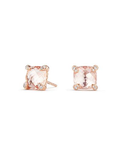 Jaipri Exclusive Peach Bow Metal Stud Earrings