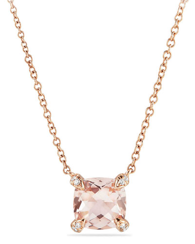 Châtelaine 18k Rose Gold Necklace w/ Morganite, 18