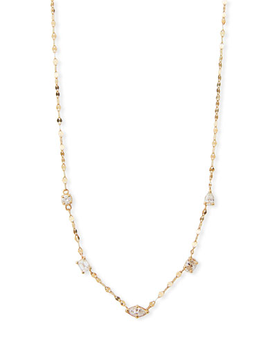 14k Multi-Shape Diamond Necklace