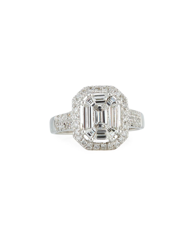 ZYDO 18K WHITE GOLD INVISIBLE DIAMOND RING