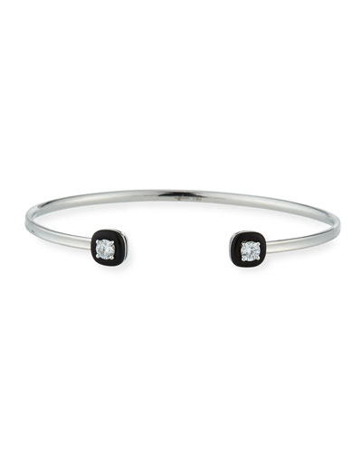18k Oui Diamond & Black Enamel Split Bracelet