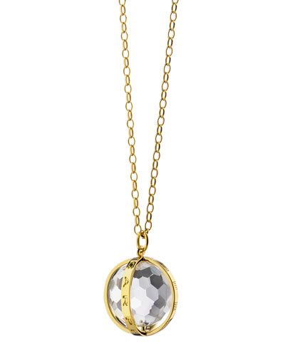 Extra Large 18k Gold Carpe Diem Pendant Necklace, 30