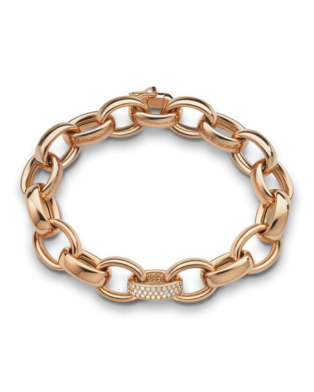 Monica Rich Kosann 18k Rose Gold Marilyn Link Bracelet