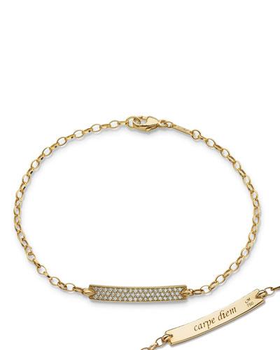 Petite Poesy Diamond ID Bracelet in 18K Yellow Gold