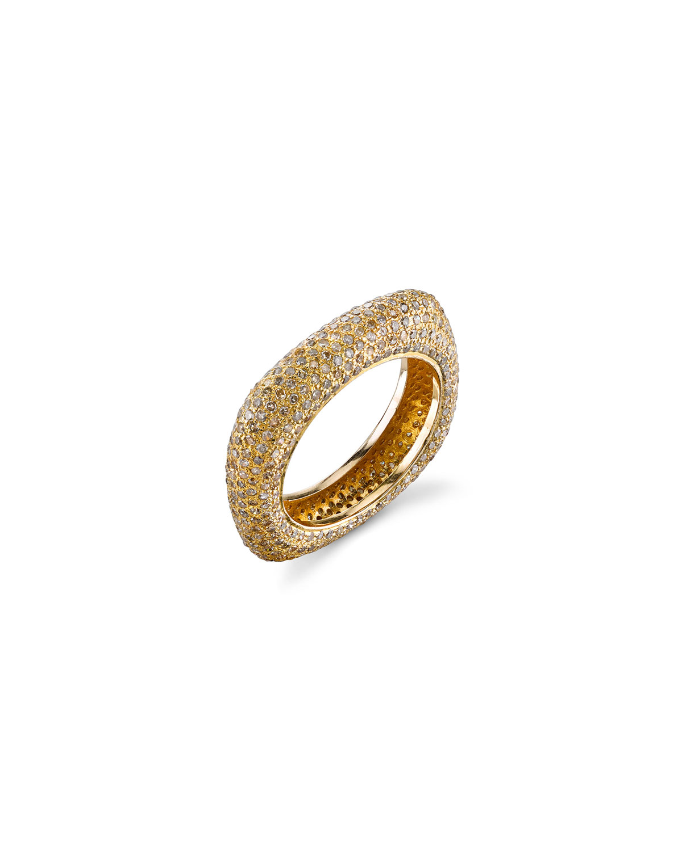 SHERYL LOWE 14K GOLD DIAMOND SQUARE STACK RING, SIZE 8.5