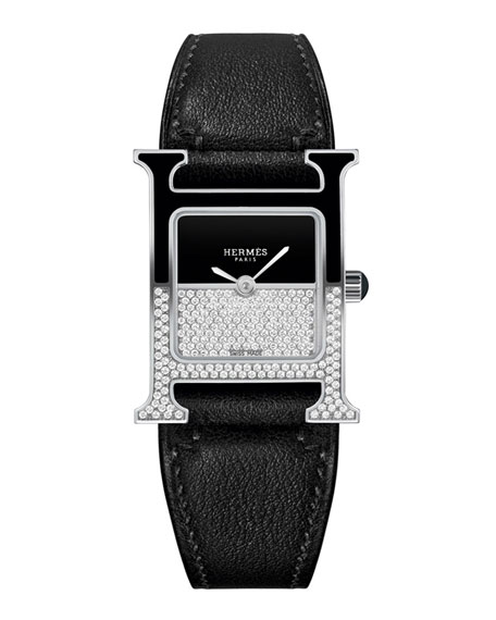 Hermès Heure H Double Jeu Watch, 21 x 21 mm