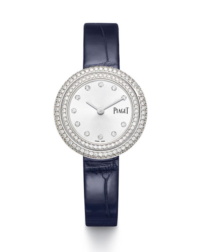 Possession 18k White Gold & Diamond Alligator Watch, 1.62tcw