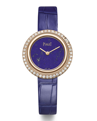 Possession 18k Rose Gold & Diamond Alligator Watch, Lapis