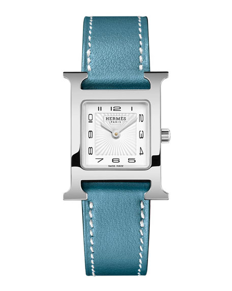 Hermès Heure H Watch, Stainless Steel & Leather Strap