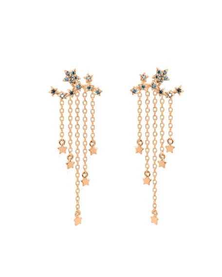 Stevie Wren 14k Rose Gold Star Ear Climber Earrings