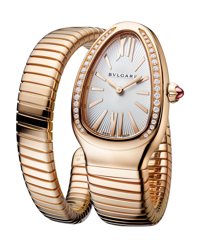 35mm Serpenti Tubogas Diamond Coil Watch