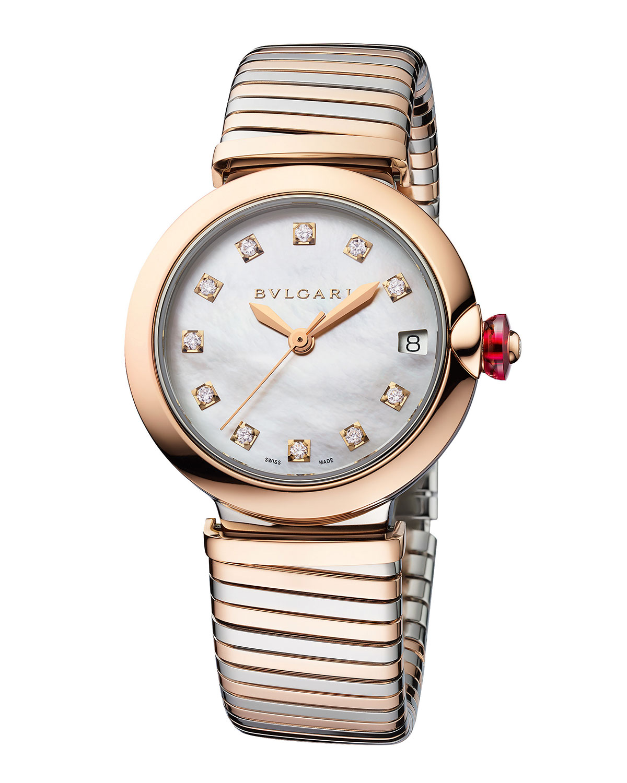 LVCEA Tubogas 33mm Diamond Bracelet Watch