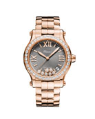 Chopard 18k Rose Gold Diamond Happy Sport Automatic