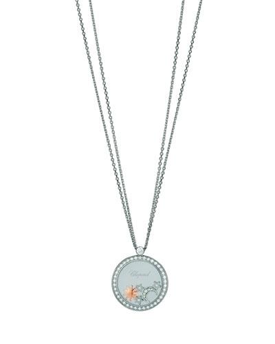 Happy Diamonds 18k White Gold Sun, Moon & Stars Pendant Necklace