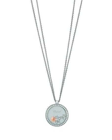 Chopard Happy Diamonds 18k White Gold Sun, Moon & Stars Pendant Necklace
